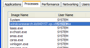 windowssearch-kb940157-xp-x86-csy.exe remove