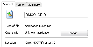 DMCOLOR.DLL properties