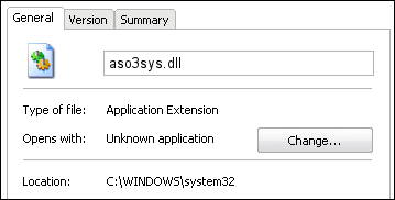 aso3sys.dll properties