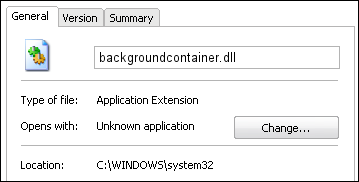 backgroundcontainer.dll properties