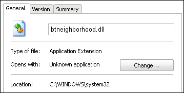 btneighborhood.dll properties