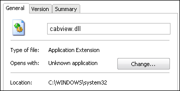 cabview.dll properties