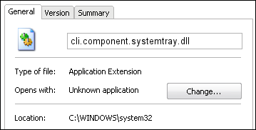 cli.component.systemtray.dll properties