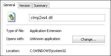 clmp2vs4.dll properties