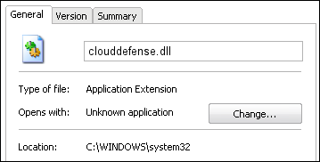 clouddefense.dll properties