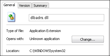 dlbadrs.dll properties