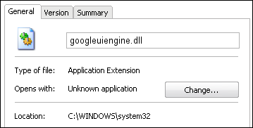 googleuiengine.dll properties